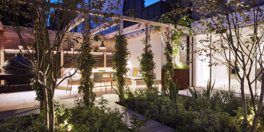 Outside garden space