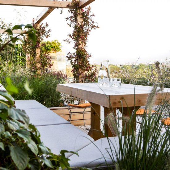 Garden table in London space